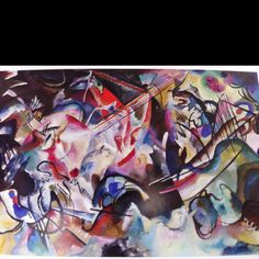 Composition VI, 1913 by Wassily Kandinsky. Kandinsky went for a walk and his assistant cleaned his studio, inadvertently turning his painting on its side -- he wept & said it was the most beautiful painting he had ever seen. Kandinsky Art, Wassily Kandinsky Paintings, Paul Klee, Abstract Painters, Abstract Art, Abstract Expressionism, August Macke, Hermitage Museum, Painting Wallpaper