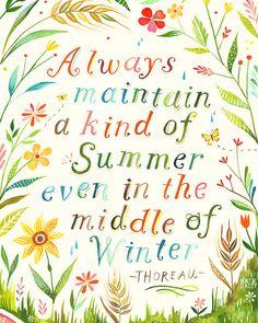 Summer - vertical print