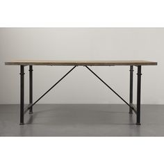 OLLIIX - Cirque Dining Table with Metal Legs | Madison Park Home Wholesale Furniture