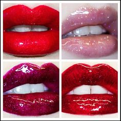 Lime Crime Carousel Gloss - Cherry on top, Snowsicle, Present & Candy apple.   www.limecrime.com