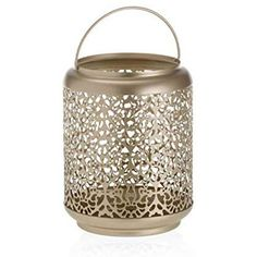 Large Jar Lantern in champagne gold with a sophisticated pearlescent finish. These jar holders add a refined touch to any setting and complement any Yankee Candle large jar or large tumbler candles. A sophisticated collection of champagne pearlescent accessories and gold tones, perfect for capturing those long summer days. A simple, yet fun and nostalgic statement #candles_decor #Candle_ideas #scent_crafts #large_ideas #spooky_lantern #jars_decor #jar_DIY