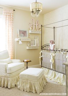THIS. This is what I want for our baby nursery if we are having a girl. So light and airy. Perfect. And those curtains!