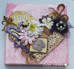 love mini altered canvas