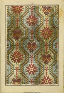 Free Easy Cross, Pattern Maker, PCStitch Charts + Free Historic Old Pattern Books: Sajou No 307 Mini Cross Stitch, Cross Stitch Borders, Cross Stitch Flowers, Cross Stitch Designs, Cross Stitching, Cross Stitch Embroidery, Embroidery Patterns, Cross Stitch Patterns, Chart Design