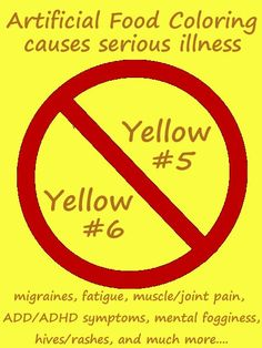 Health Effects of Yellow 5 Food Coloring