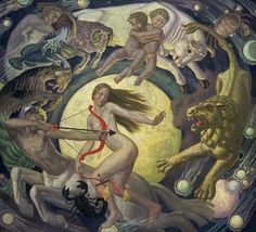 The Zodiac, by Ernest Procter, 1925. Oil on canvas | Tate Musuem