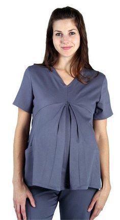 636f8f9ebe0 This Scrub Shopper exclusive maternity top features back princess seams.  Soft meets stretch like never