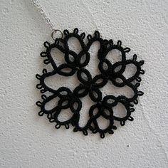 Tatted Lace pendant Tatting Frivolite Handmade by MyWealth on Etsy, $10.00