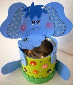 Reuses Aluminum Cans Transforming them into Remarkable Containers Kids Crafts, Tin Can Crafts, Foam Crafts, Easy Crafts, Diy And Crafts, Arts And Crafts, Paper Crafts, Art N Craft, Diy Art
