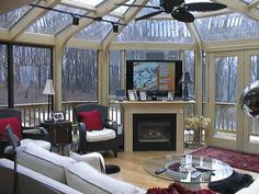 Within our six styles of sunrooms there is a world of possibilities limited only by your imagination. Mix and match lighting fixtures, wood stains, flooring, windows, glass roofs, solid ceilings, the sky's the limit.