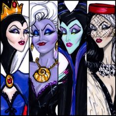 Art Lesson - Sketch - Disney villains