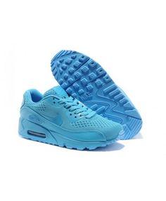 Mens Nike Air Max 90 Premium Em 2014 Release All Blue 6809331-319 2f7b7040d