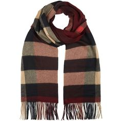 Burberry Oversize Cashmere Scarf ($1,005) ❤ liked on Polyvore featuring accessories, scarves, burberry scarves, cashmere scarves, burberry shawl, burberry and burgundy shawl