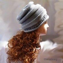 Knitting pattern in PDF hat slouchy pattern