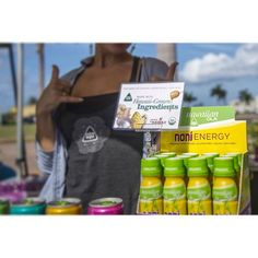 Made with Hawaii-Grown Ingredients! #buylocal #supportlocal #supporthealth #eatclean #eatlocal #organic #noni #hawaiianola #hawaiianolaenergy #farmersmarketsaturday #hawaiigrown #farmersmarkethawaii #shaka #livealoha #doeverythingwithlove