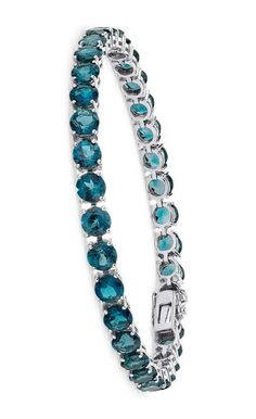 London Blue Topaz Bracelet in Sterling Silver
