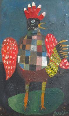 Chicken art on the Modern Atlanta Homes Tour (2014)