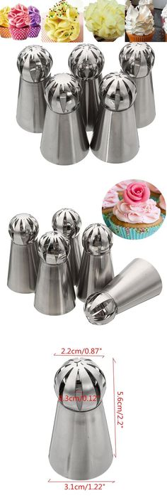 Stainless Steel Sphere Ball Icing Piping Nozzle Cupcake Pastry Tips Decor(Baking Equipment) Icing Tips, Frosting Tips, Cupcake Frosting, Cake Icing, Frosting Recipes, Cupcake Cookies, Cupcake Recipes, Eat Cake, Cake Decorating Tools
