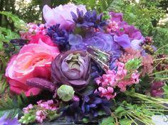 Beautiful Flower Garden Purple Wedding/Bridal by NouveauBridal, $100.00