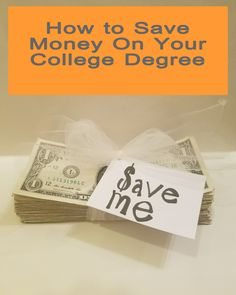 I just learned how to save on my college education.  Love it!