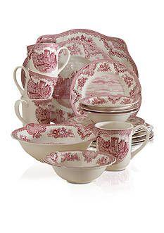 Johnson Brothers Old Britain Castles Pink Dinnerware