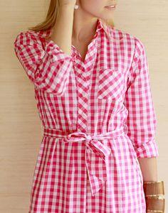 jordan dress in pink gingham