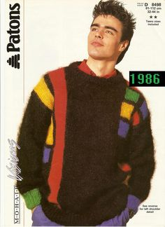 1980's FASHION | 1980s Autumn/Winter Wear For Men - Get Some Knitwear!