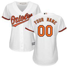 03e18f4b4 Women Baltimore Orioles Majestic White Home Cool Base Custom MLB Jersey