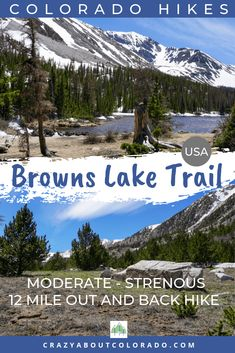 Browns Lake Trail is a complete surprise! Want to push yourself a bit farther in your day hike? This is the hike for you. Amazing waterfall and stunning lake. Snowshoe, Hiking Usa, Hiking Trails, Travel List, Group Travel, Travel Advise, Rafting, Snowboard, Best Hikes