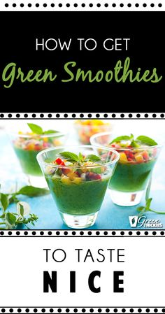 How do you get green smoothies to taste nice? A lot of people are really reluctant to make green smoothies because they think that they're going to taste disgusting because let's face it - they kind of look disgusting. But once you taste my smoothies you will associate the colour of green with delicious dessert! http://www.greenthickies.com/get-green-smoothies-taste-nice-seriously-tastebuds-going-thank/