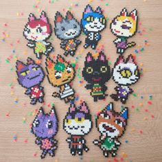This article is not available - Animal crossing cat villager. – Dimensions: 5 cm x 7 cm x -All village - Perler Bead Designs, Melty Bead Designs, Melty Bead Patterns, Perler Bead Templates, Hama Beads Design, Hama Beads Patterns, Beading Patterns, Mini Hama Beads, Diy Perler Beads