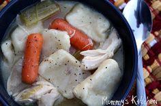 Mommy's Kitchen: Stewed Chicken & Dumplings