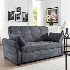 Serta Haiden Queen Sofa Bed, Gray - Walmart.com - Walmart.com Queen Size Sofa Bed, Pull Out Sofa Bed, Grey Sofa Bed, Walmart, Convertible Bed, Bed Dimensions, Best Sofa, Bed Sizes, Home Furniture