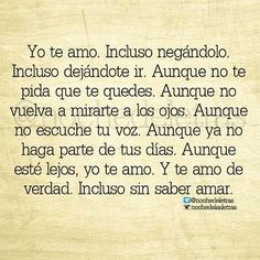 Yo te amo...