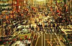 Cityscapes by Stephanie Jung A Level Photography, Double Exposure Photography, Light Photography, Street Photography, Photography Ideas, Multiple Exposure, Urban Landscape, Photomontage, City Life