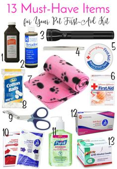 13 Must-Have Items for Your Pet First-Aid Kit