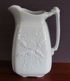 Unusual seashell patterned pitcher