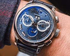 To start the weekend off we go Hands-On with the new Chopard L.U.C Perpetual Chronograph in platinum. The most striking features are the blue guilloche dial and the moon phase whose field of stars feature actual constellations.