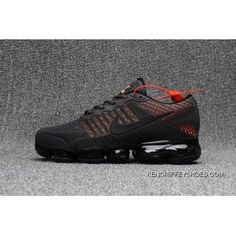 f863ad96acf Men s Nike Air Vapormax Flyknit 2018 Anthracite Grey Orange New Style