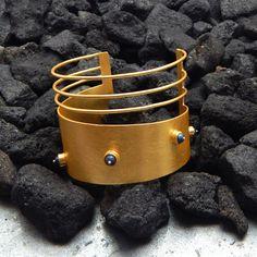 Wedding Jewelry  Handmade Lapis Cuff Bracelets  by darlingpiece