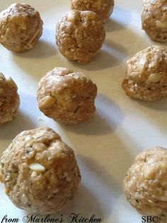 Energy Protein Almond Balls   If you are not FOLLOWING ME already -- WHY NOT??!! lol Make sure you click FOLLOW at the top of my page!  1¼ cup - old fashioned oats  3 tablespoons - shredded unsweetened coconut ½ cup - sliced almonds, finely chopped 1 tablespoon - hemp seeds,  1/2 tablespoon-ground flax seed 1 scoop - whey protein powder ½ cup - honey ½ cup - dried apricots, chopped ½ cup - peanut butter  In a medium bowl add the oats, coconut, almonds, hemp seeds and protein powder. Stir…