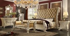 Homey Design HD-8012 5Pcs Victorian European Classic King Bedroom Set