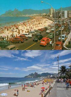 Ipanema, Rio de Janeiro then and now