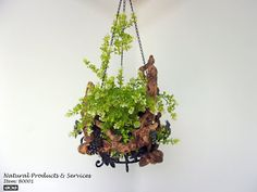 Grapevine Hanging Planter by NaturalProducts93 on Etsy