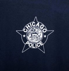 Chicago Police Department Star T-Shirt Men's Large Blue FREE SHIPPING
