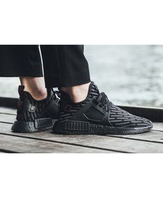 3289f1102 uk adidas nmd primeknit mens trainers in triple black sale clearance