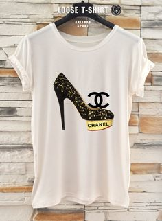 chanel fashion tshirt/white/black tshirt / by ANISHARsport, $18.90