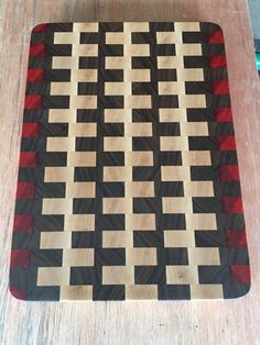 Maple/Walnut/Padauk End Grain Cutting Board by HouseofHooversWood