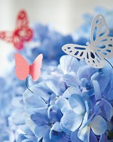 craft punch butterflies on wire to add whimsy to a bouquet