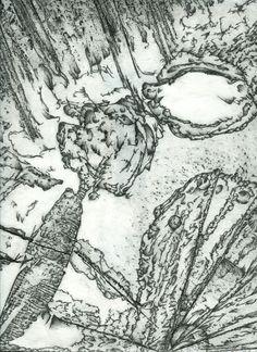 Frottage artist: Roger Clark Miller.